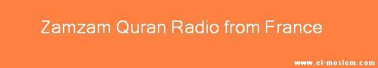 Zamzam Quran Radio from France